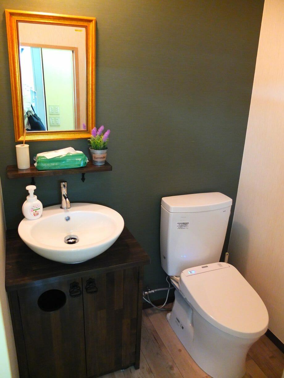 車椅子でも使いやすいトイレの施工事例も